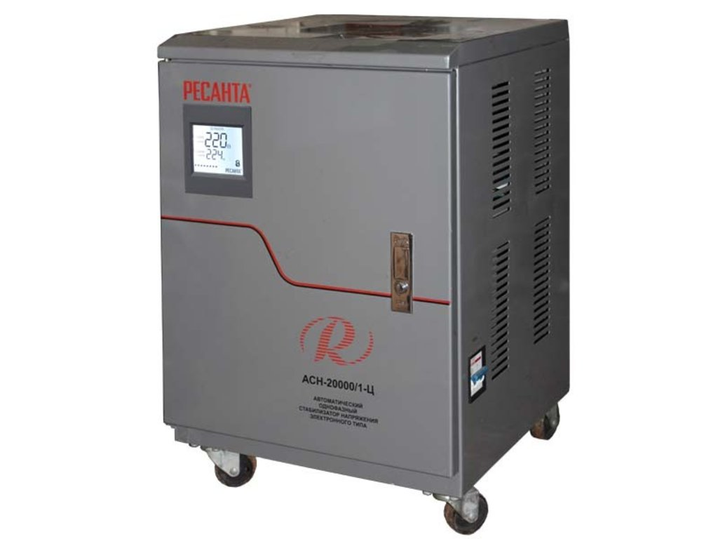 Электронного типа с цифровым дисплеем: Однофазный стабилизатор электронного типа с цифровым дисплеем РЕСАНТА АСН-20000/1-Ц в РоторСервис, сервисный центр, ИП Ермолаев Д. И.