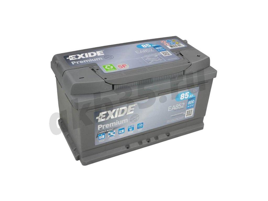 Аккумуляторы: EXIDE 85 А/ч Обратный Низкий EA852 в Планета АКБ