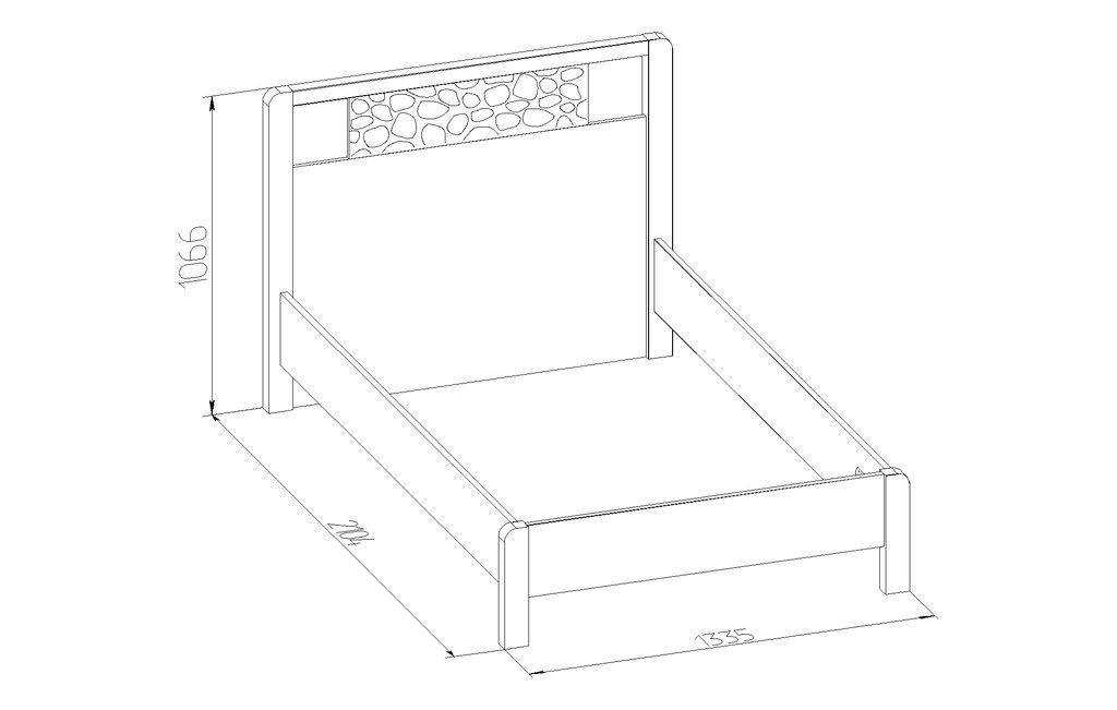 Кровати: Кровать WYSPAA 44 (1200, орт. осн. дерево) в Стильная мебель