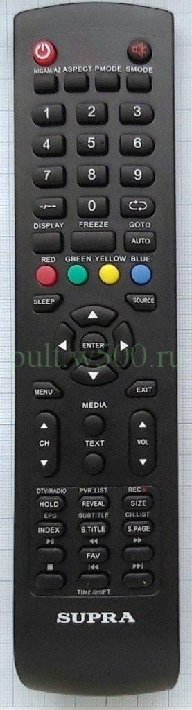 SUPRA: Пульт SUPRA Y-72C2  кл. Timeshift (LCD) оригинал в A-Центр Пульты ДУ