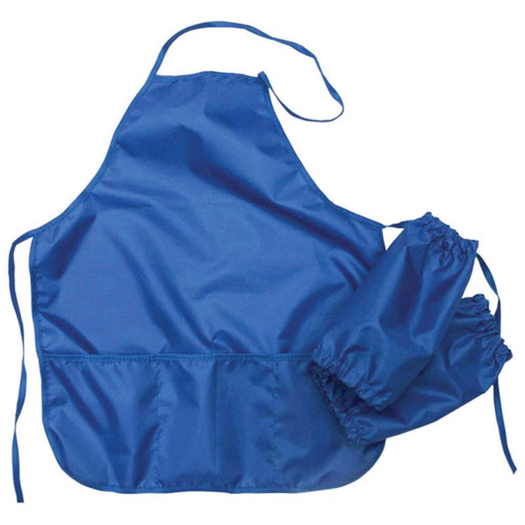 Прочие принадлежности: Фартук с нарукавниками Artspase синий 54*44см 3кармана в Шедевр, художественный салон