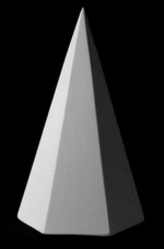 Гипсы: Пирамида 6-гранная в Шедевр, художественный салон