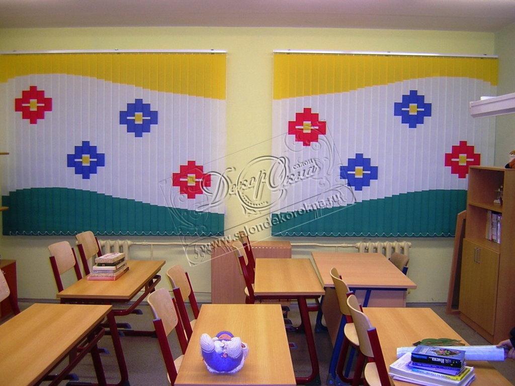 Шторы, портьеры: Шторы для школы в Декор окна, салон