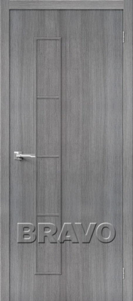 Двери экошпон BRAVO: Тренд-3  Grey Veralinga в STEKLOMASTER