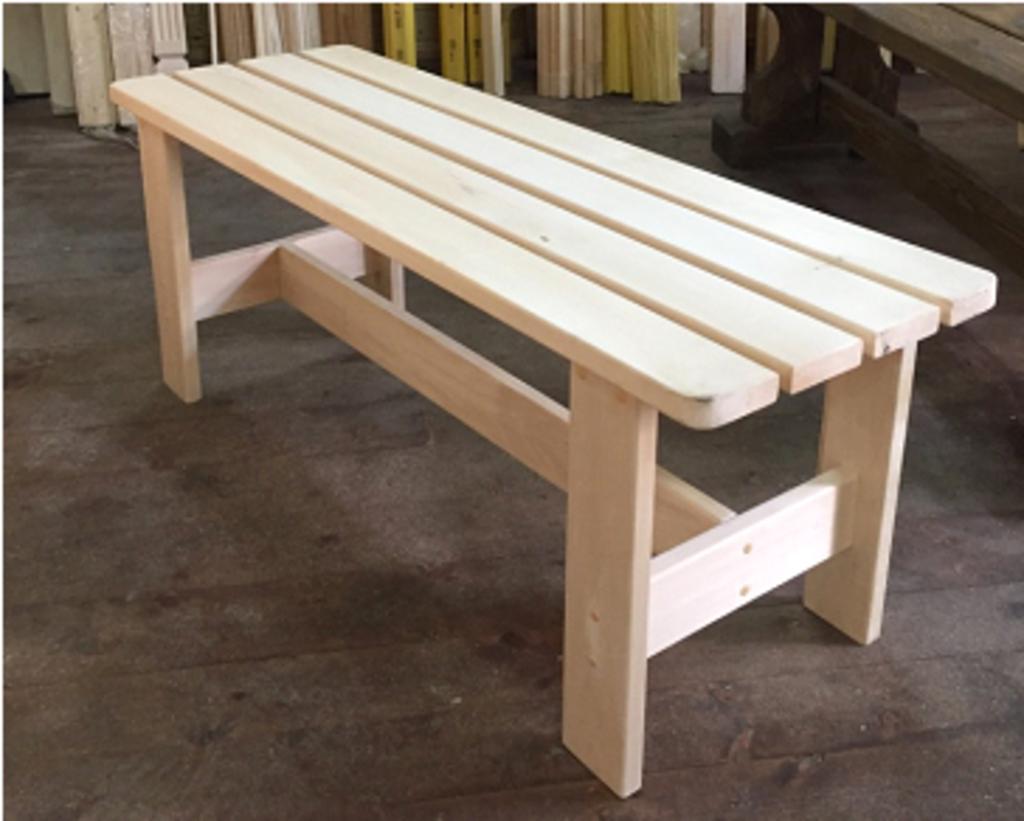 Мебель для саун и бань: ЛАВКА ЛИПА (полог) 400х1000 в Погонаж