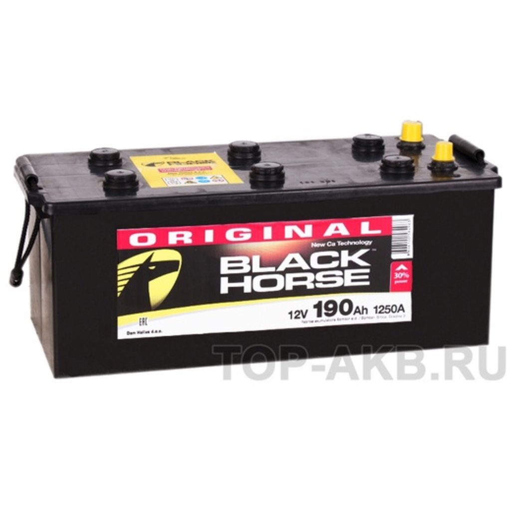 BLACK HORSE: Аккумулятор BLACK HORSE 190 A/h в БазаАКБ