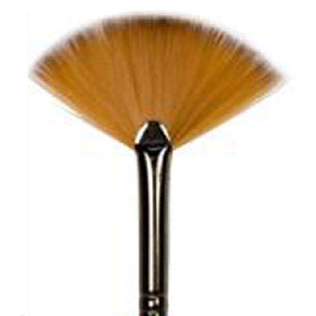 Синтетика: Кисть синтетика, веерная двуцветная, короткая ручка, покрытая лаком №2 в Шедевр, художественный салон