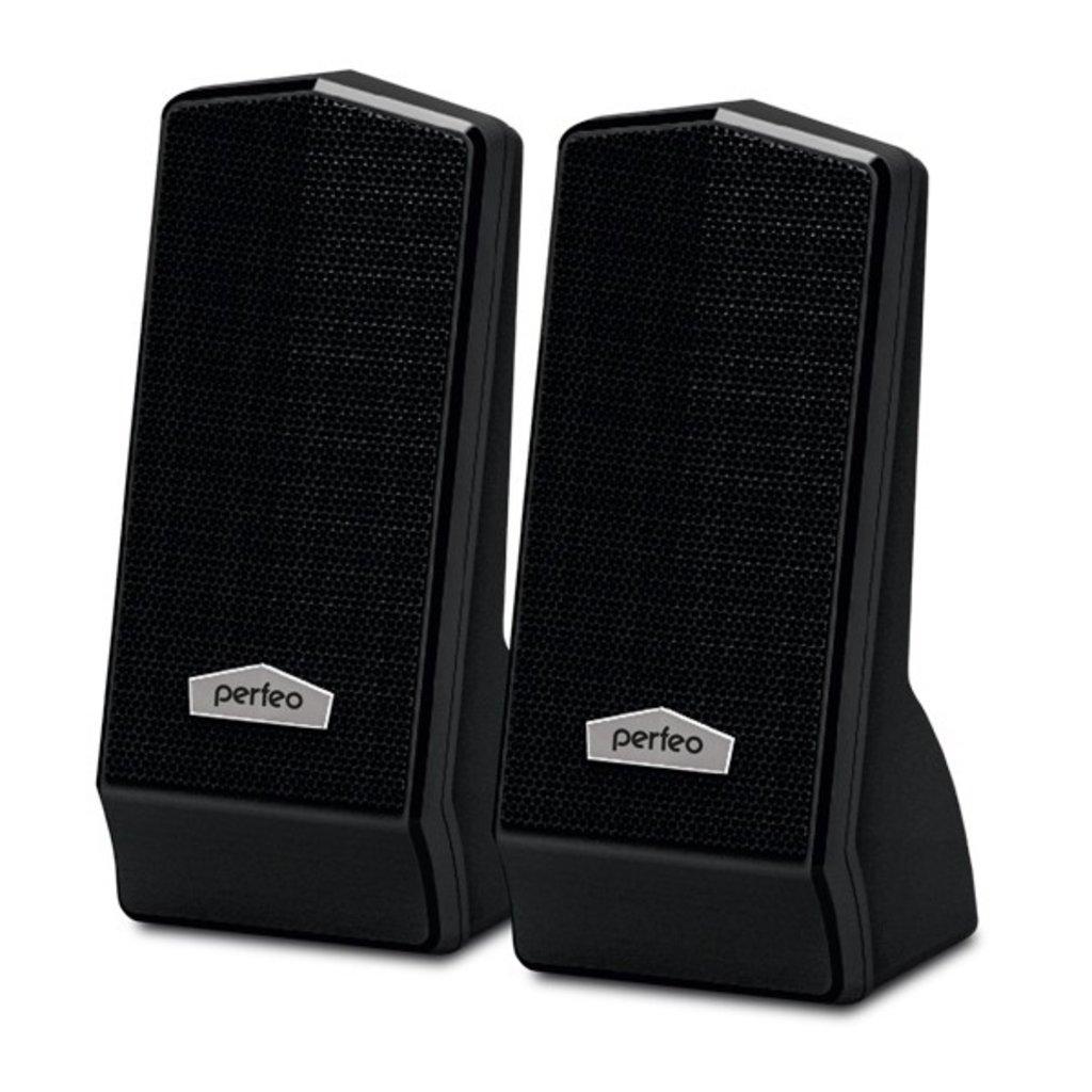 Компьютерные колонки: Колонки 2.0 USB, мощность 2х3Вт (RMS), чёрный, CURSOR ( Perfeo PF-601 ) в A-Центр Пульты ДУ