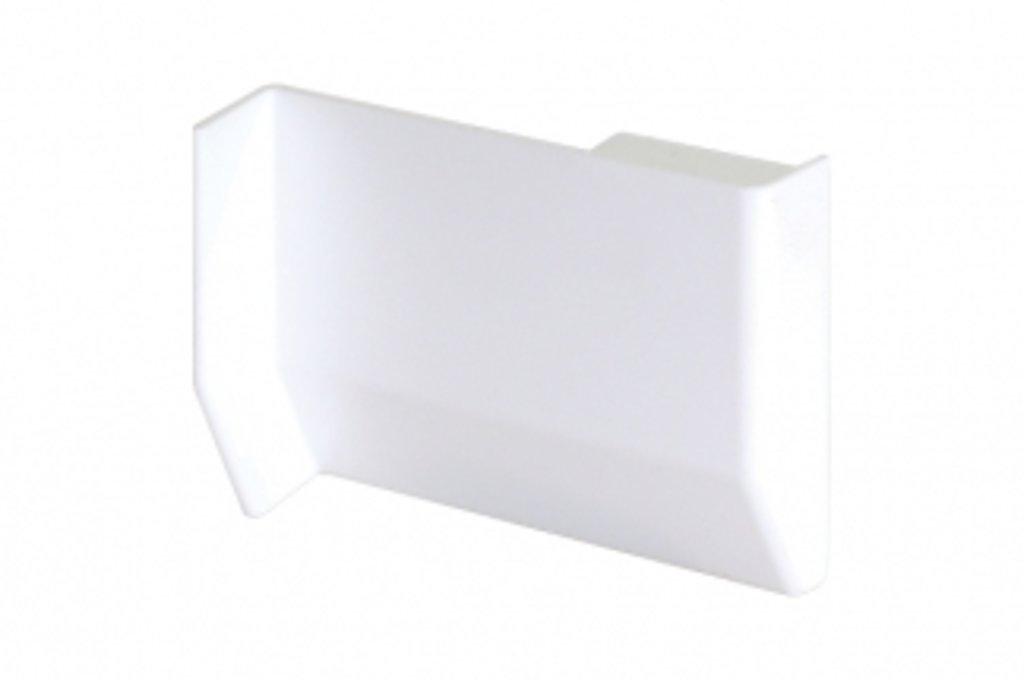 Подвеска полок: Крышечка декоративная для подвески арт.701/801 белая, правая в МебельСтрой