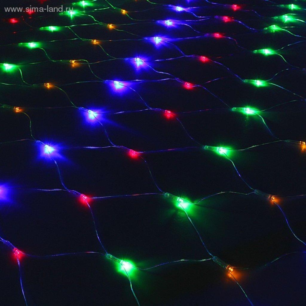Светодиодные сетки: Сетка 1.5х1.5 силикон МУЛЬТИ в СВЕТОВОД