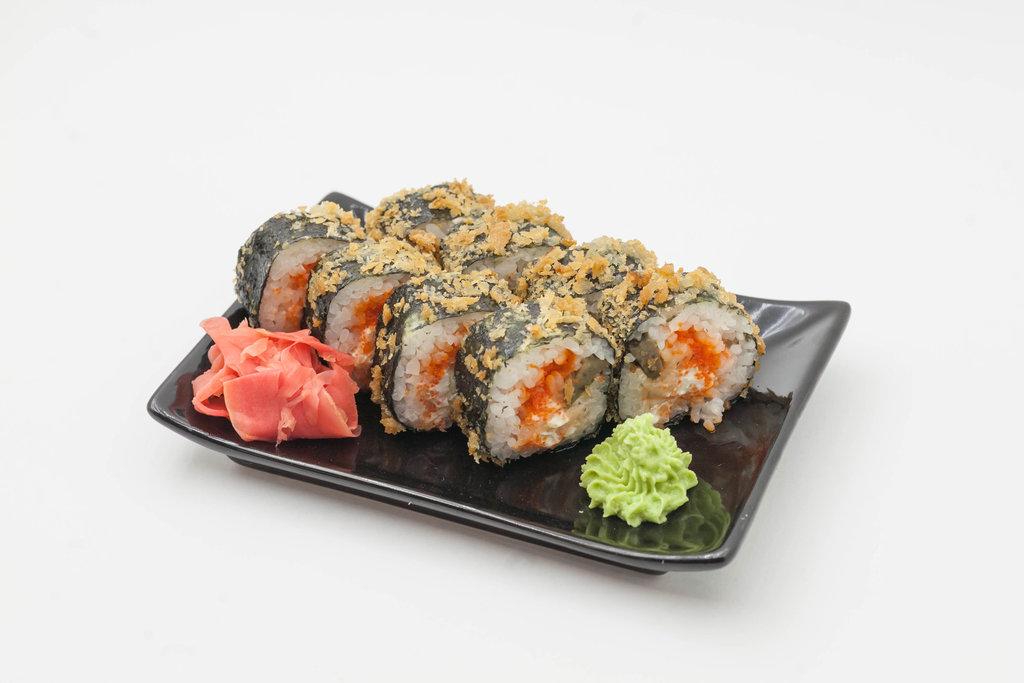 Запеченные роллы: Темпура с лососем и угрём в Tokio