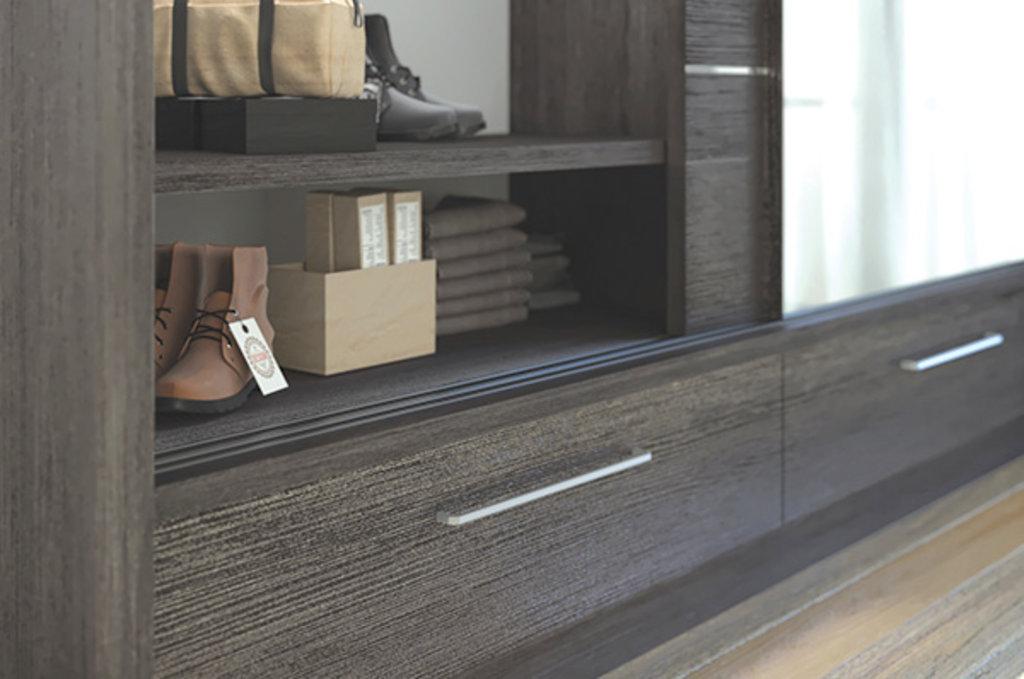 """Мебельная фурнитура """"НОВИНКИ"""": Направляющая верхняя врезная, L=3000мм, отделка черная в МебельСтрой"""
