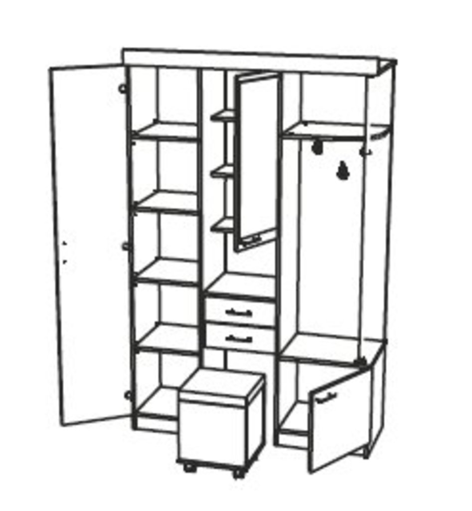 Шкафы для прихожих: Шкаф комбинированный Дебют - 4 в Стильная мебель