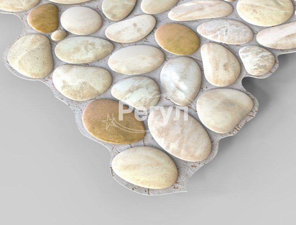 Панели ПВХ: Камень Галька перламутровая в Мир Потолков