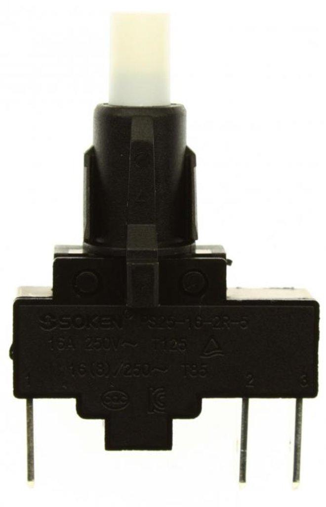 Запчасти для плит и духовых шкафов: Кнопка электроподжига 3-х контактная  для плиты Gefest (Гефест), PS 25-16-2R-5 в АНС ПРОЕКТ, ООО, Сервисный центр