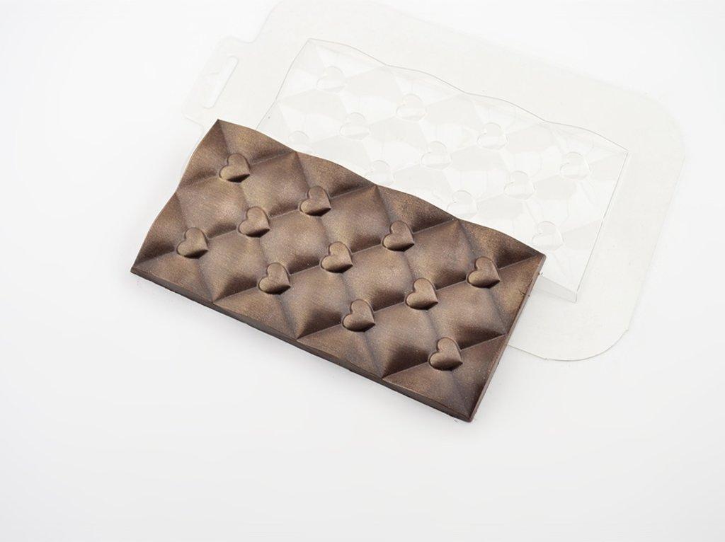 Пластиковые формы для шоколада: Форма для шоколада Плитка Сердечки в ТортExpress