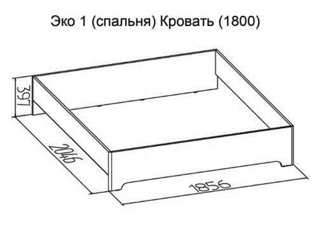 Кровати: Кровать Эко 1 (1800, орт. осн. дерево) в Стильная мебель