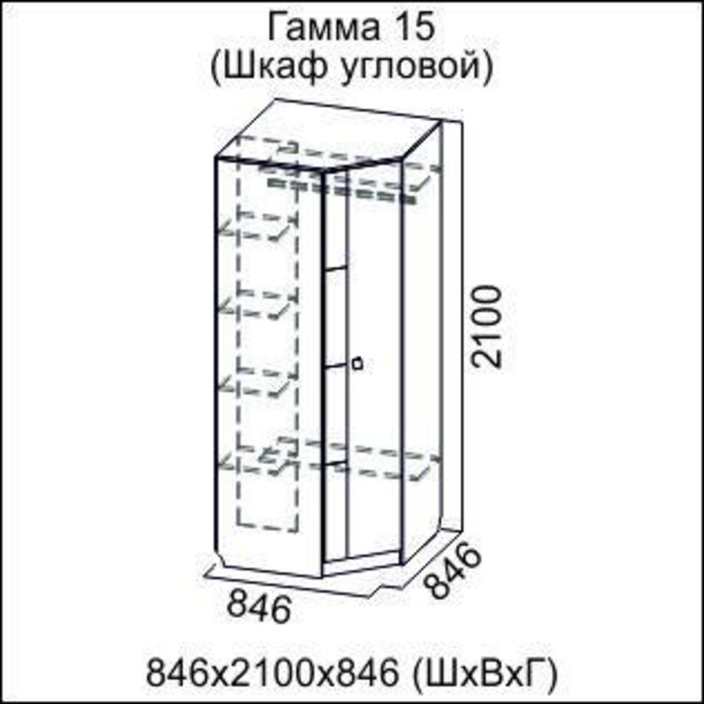 Мебель для гостиной Гамма-15: Шкаф угловой Гамма-15 в Диван Плюс