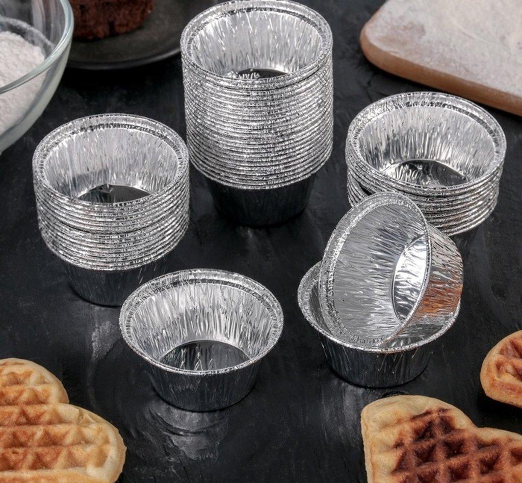 Формы: Формы для выпечки из фольги, 6х3 см в ТортExpress