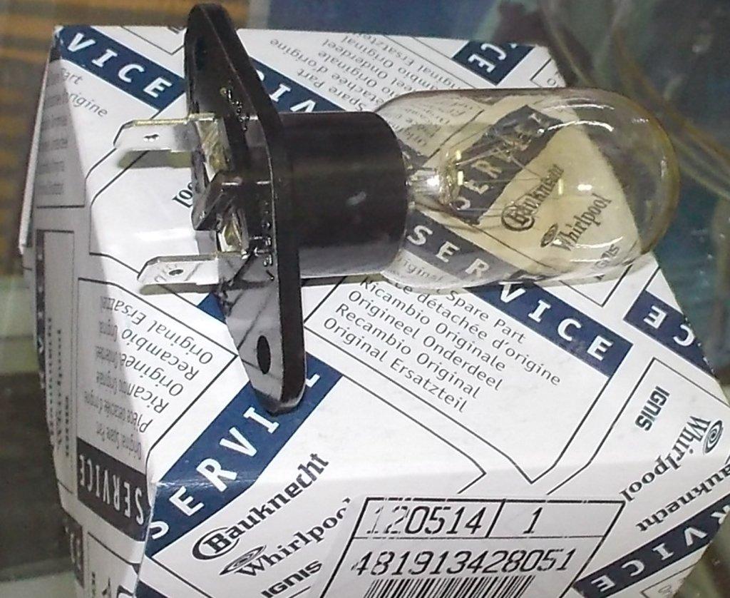 Запчасти для микроволновых СВЧ-печей: Лампочка для СВЧ Whirlpool 25W 240V T170, 481913428051, 481913488151 в АНС ПРОЕКТ, ООО, Сервисный центр