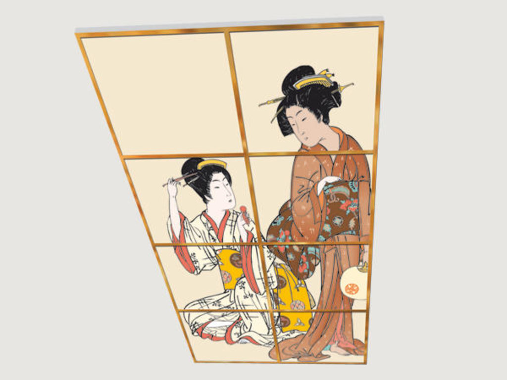 Витражные (стеклянные) потолки: Серия «Япония» в Мир Потолков