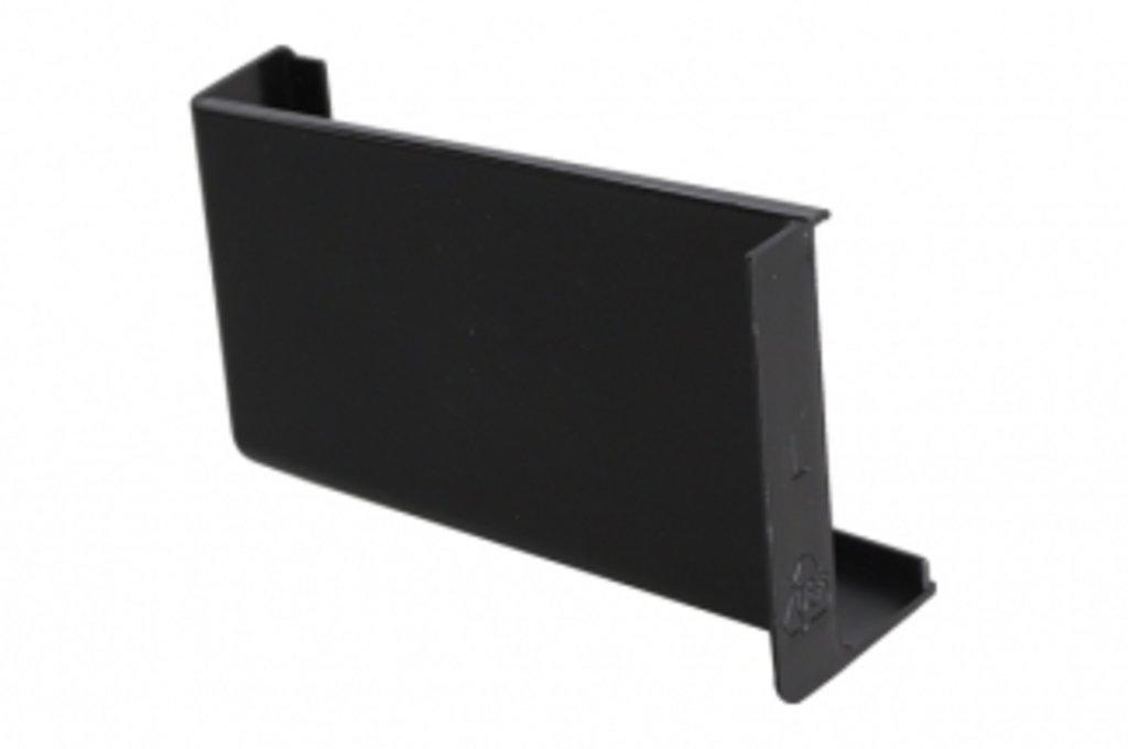 Подвеска полок: Крышечка декоративная для подвески арт.806 чёрная, левая в МебельСтрой
