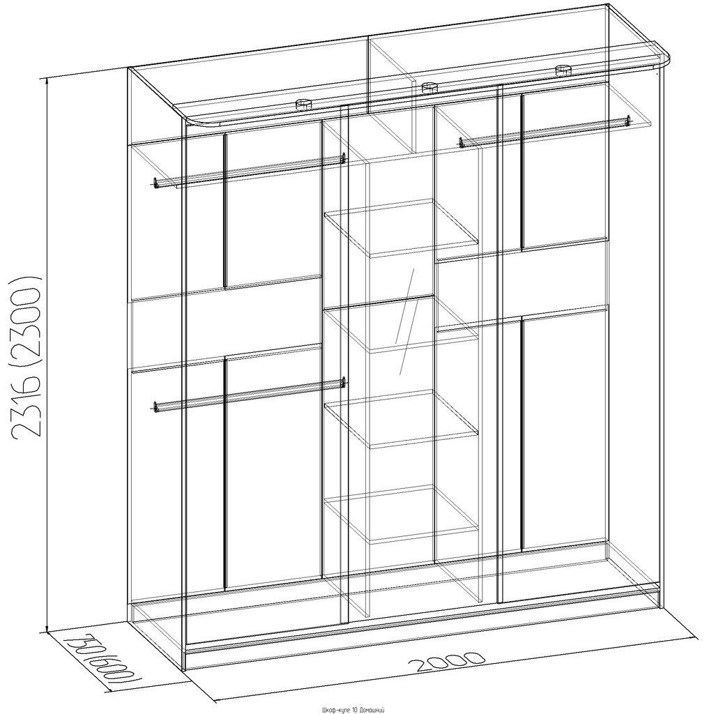Мебельные направляющие и комплектующие: Карниз Домашний 101 в Стильная мебель
