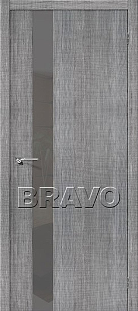 Двери экошпон BRAVO: Порта-51 Smoke Grey Crosscut в STEKLOMASTER