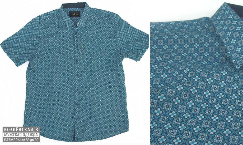 Рубашки, сорочки (короткий рукав): Мужская рубашка с коротким рукавом в Богатырь, мужская одежда больших размеров