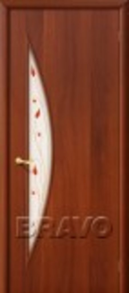 Двери ламинированные BRAVO: 5С Л-11 (ИталОрех) в STEKLOMASTER