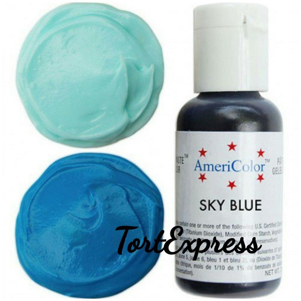 Ингредиенты: Гелевый краситель AmeriColor, небесно-голубой, флакон 21 гр в ТортExpress