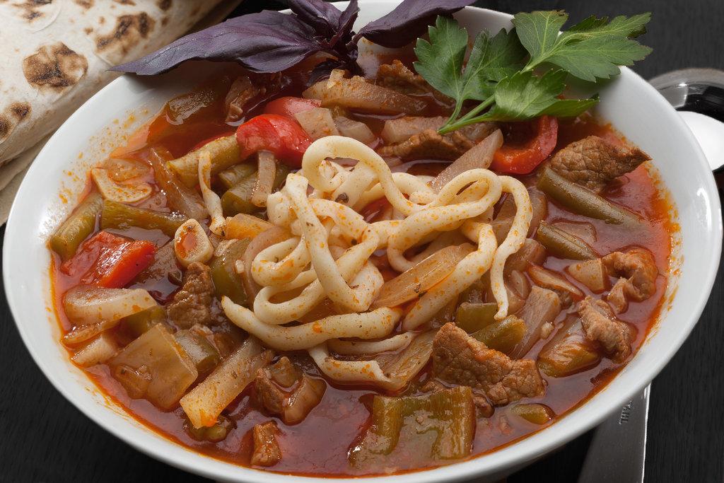 Супы+Гарниры+Вторые блюда: ЛАГМАН в SUPER KEБAБ