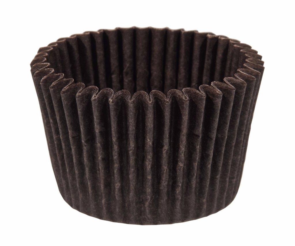 Формы бумажные для выпекания маффинов, пирогов, куличей: Тарталетка 4D коричневая 35х30мм (1000штук) в ТортExpress