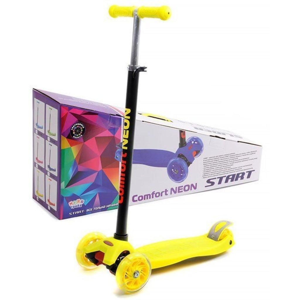 """Транспорт для малышей: Самокат четырехколёсный""""Slider"""",колеса: PU,светящиеся,d120 мм.d80 мм. высота руля 65-88см. подшипники ABEC-5 в Игрушки Сити"""