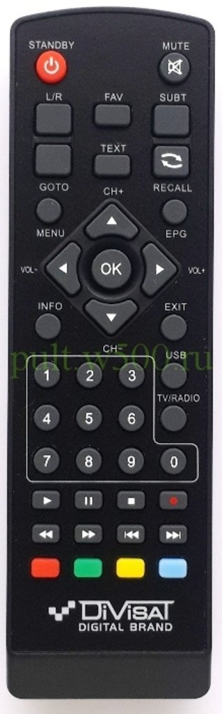 DiVisat: Пульт REXANT RX-511 Supra, EXEQ, Lit, ( Cadena HT-1110 ) (Divisat  T2-HOBBIT IRON III ) (DVB-T2) оригинал в A-Центр Пульты ДУ