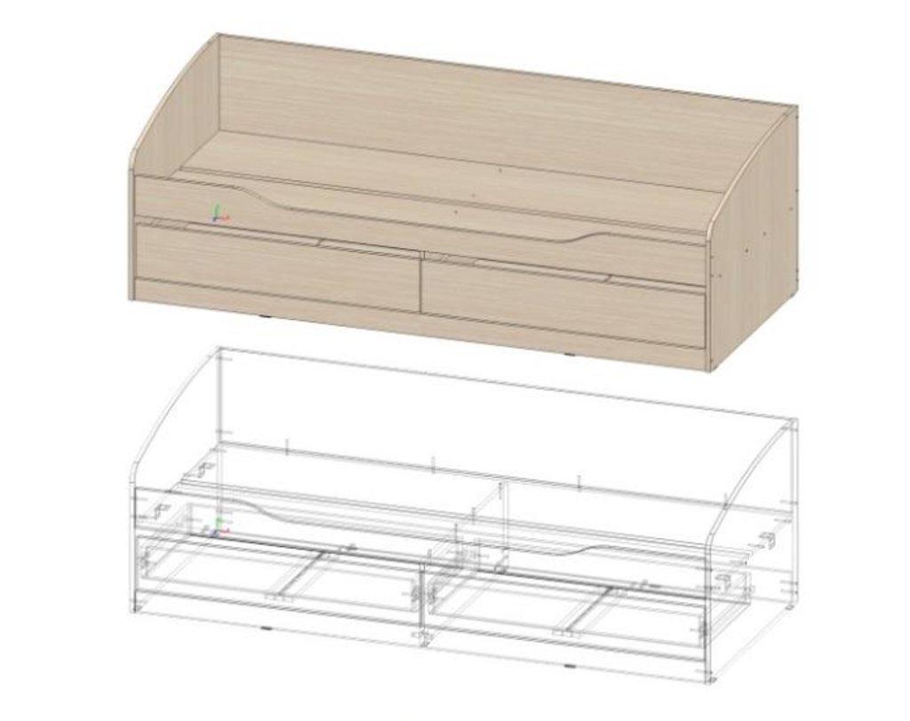 Мебель для детской Мийа - 3 (дуб молочный, фотопечать): Кровать К- 313 Мийа - 3 в Диван Плюс