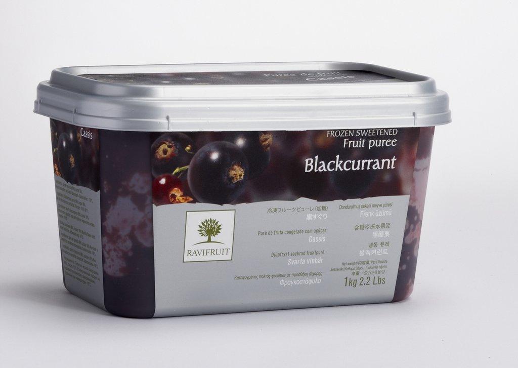 Фруктовое пюре: Пюре Ravifruit Черная смородина,1кг в ТортExpress