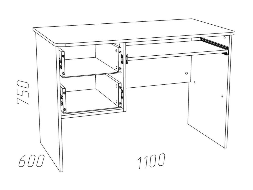 Компьютерные столы: Стол для компьютера НМ 009.19-05 Рико в Стильная мебель