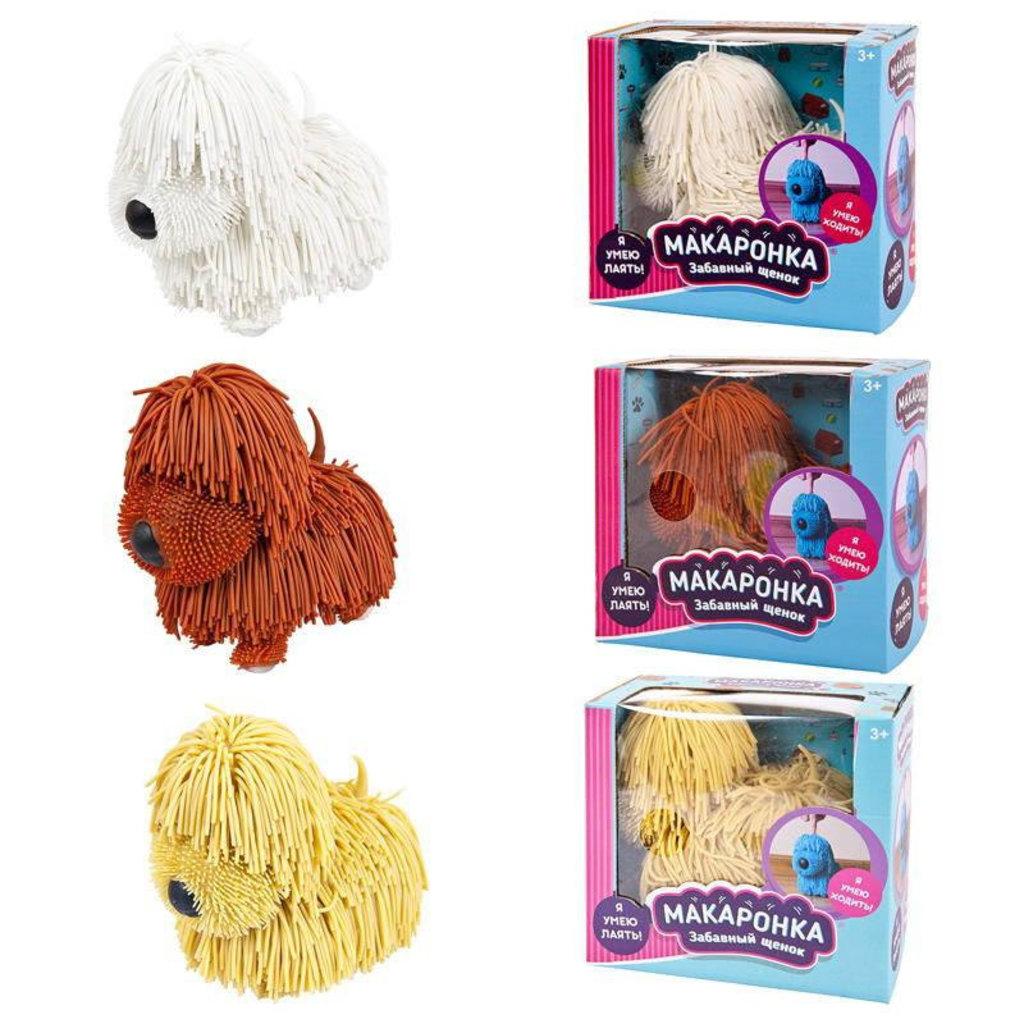 Игрушки для малышей: Собака Макаронка электромеханическая 3 цвета в ассортименте, 16х9х15см ABtoys РТ-01099 в Игрушки Сити