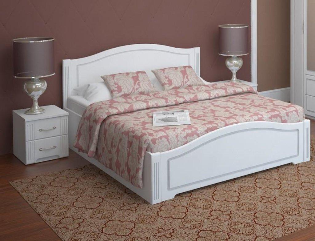 Кровати: Кровать двуспальная Виктория (1600, латы дерево) в Стильная мебель