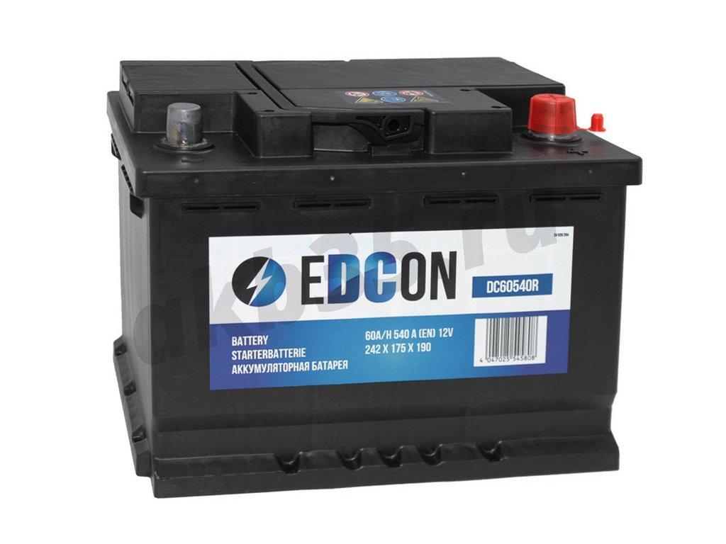 Аккумуляторы: EDCON 60 А/ч Обратный Низкий (DC60540R1) в Планета АКБ