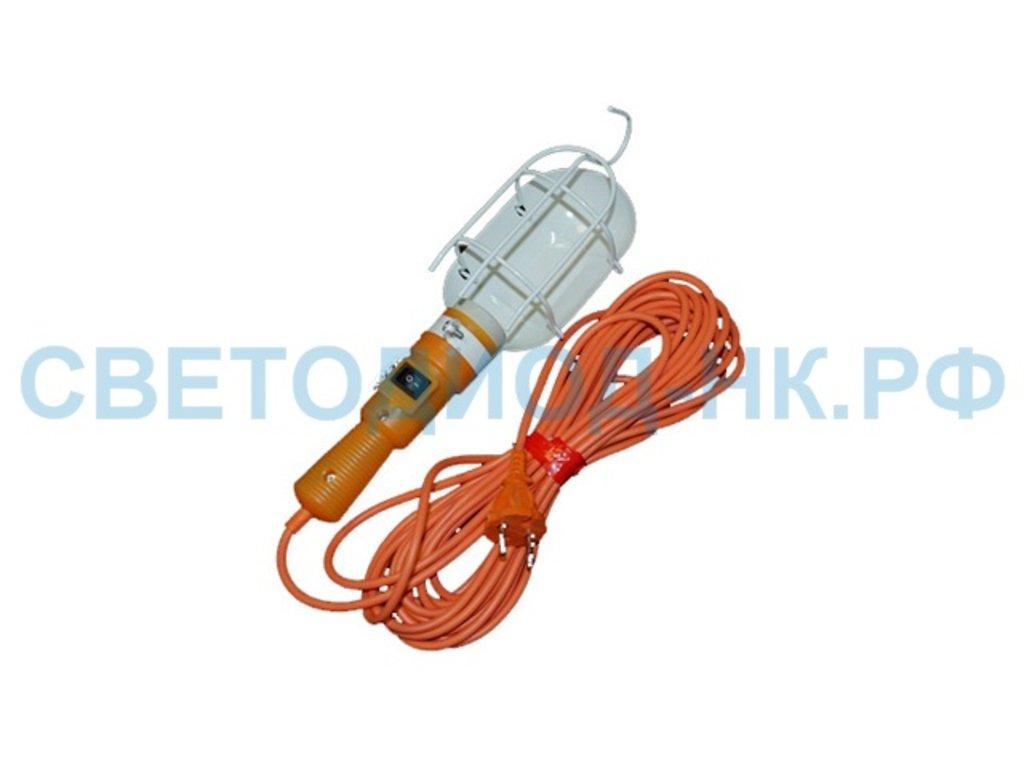Провод, шнуры, переноски: ЛСУ-1 св-к переноска E27 60W 220V (АС) 25м с выкл. (ПВС) в СВЕТОВОД