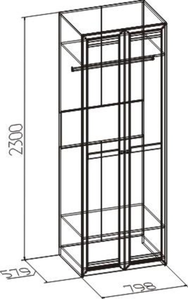 Шкафы для одежды и белья: Шкаф для одежды Бриз 54 (Стандарт+Стандарт) в Стильная мебель