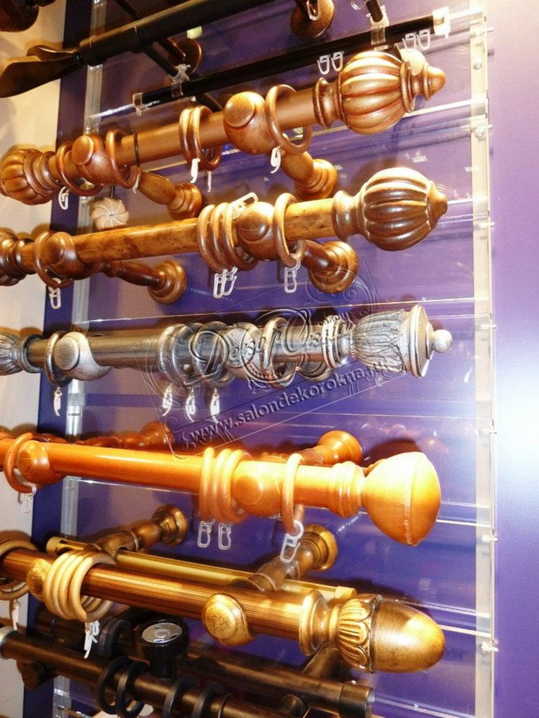 Карнизы для штор: Карнизы круглые из ценных пород дерева в Декор окна, салон
