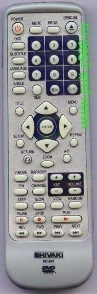 SHIVAKI: Пульт SHIVAKI RC-910-1 ( DVD корпус ROLSEN )  оригинал в A-Центр Пульты ДУ
