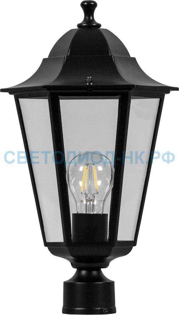 Садово-парковые светильники: 6103 60W 230V E27 170*170*310мм черный на столб в СВЕТОВОД