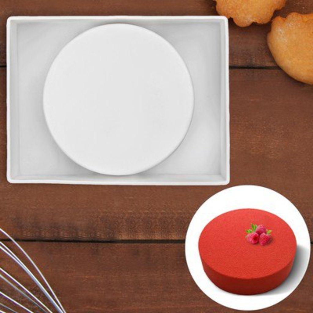 """3d формы: Форма для муссовых десертов и выпечки 18х5 см """"Круг"""", цвет белый в ТортExpress"""
