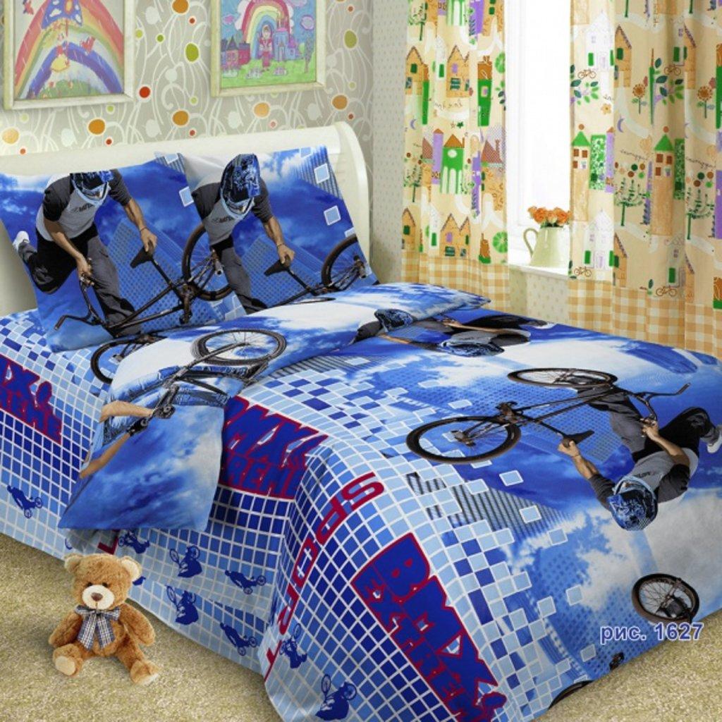 КПБ(постельное белье): Комплект постельного белья из поплина(100%хлопок)1,5сп.(наволочка(50см*70см)-1шт.,простынь(150см*220см)-1шт.,поддодеяльник(150см.*210см.на молнии)-1шт. в Редиант-НК
