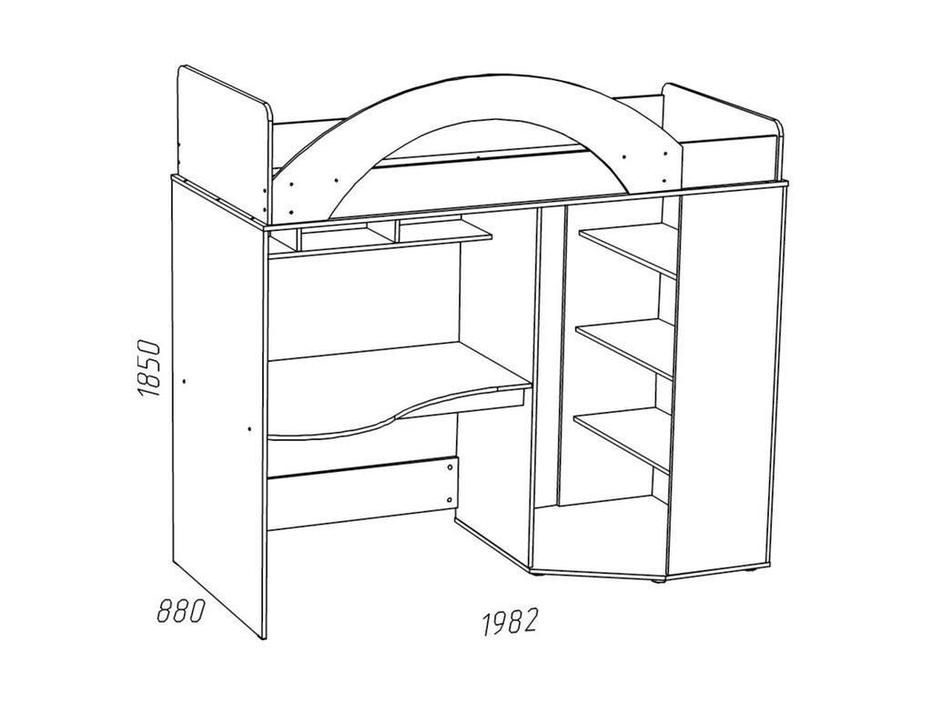 Детские и подростковые кровати: Кровать ИЧП 15-01 (800x1900, усилен. настил) Рико в Стильная мебель