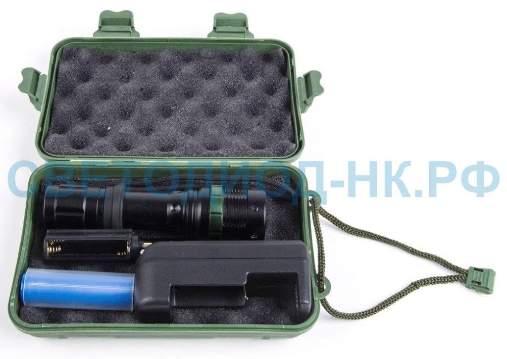 Светодиодные фонари, пушлайты: Ultraflash фонарь ручной E142 (1x18650 1.2Ah или 3xR03) 1св/д 3W(250lm),черн/металл,3 реж,фокус,бокс в СВЕТОВОД